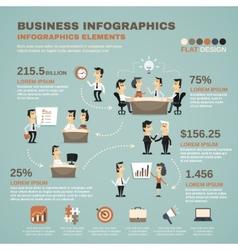 Office work infographics presentation poster vector