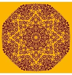 Ornamental henna mandala card geometric circle vector