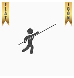 Pole vault athlete vector