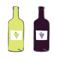 red and white wine color vector image vector image