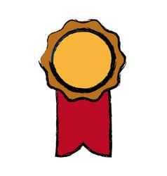rosette ribbon award winner symbol vector image vector image