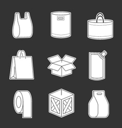 Set of package icons vector image vector image