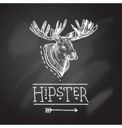 Sketch antlers vector image vector image