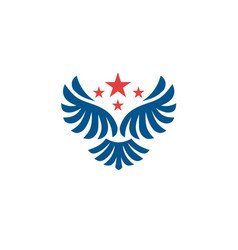 star wings logo wing logo company vector image
