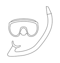 the mask and snorkel for divingsummer rest single vector image vector image