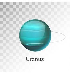 Uranus planet 3d vector image vector image