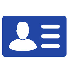 User account card flat icon vector