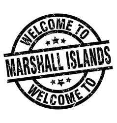 welcome to marshall islands black stamp vector image vector image