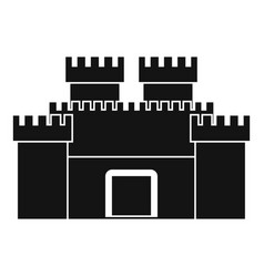 Ancient fortress icon simple style vector