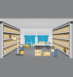 warehouse design vector image