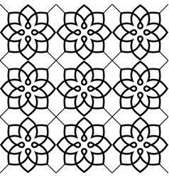 Geometric seamless pattern arabic ornament style vector
