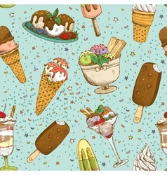 Icecream seamless background pattern vector