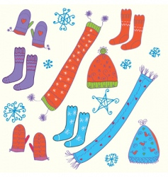 Hats and socks vector