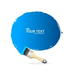 Brush speech bubble vector