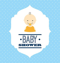 babby shower design vector image