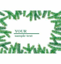 Christmas tree branch's frame vector image