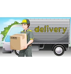 A delivery man vector