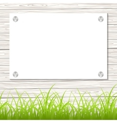 Wall with a piece of paper vector