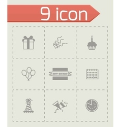 Birthaday icon set vector