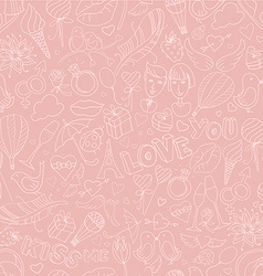 Valentines day pattern sketch style vector