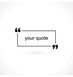 Quotation mark vector