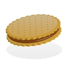One biscuit vector