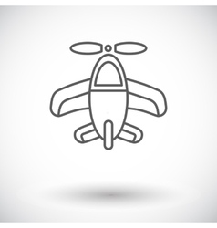Airplane toy icon vector