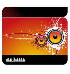 Musical background vector