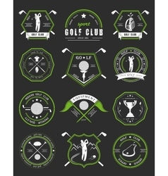 Set of logos and icons golf clubs vector
