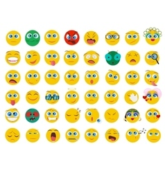 Mega big collection set of flat emoji face emotion vector