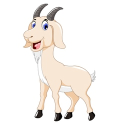 Cute goat cartoon for you design vector