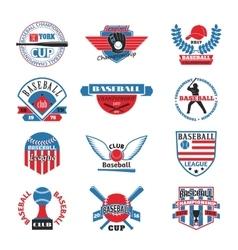 Baaseball badge logo vector