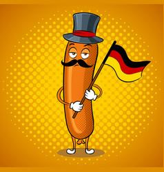 Bavarian sausage pop art vector