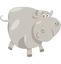 cute hippopotamus cartoon vector image