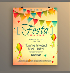 Elegant festa junina season background with vector