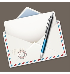 Envelope end pen vector