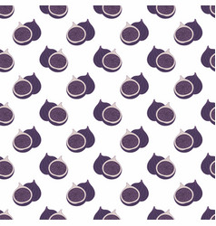 fig decorative seamless pattern vector image vector image
