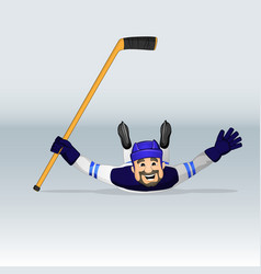 finland ice hockey hockey player vector image vector image