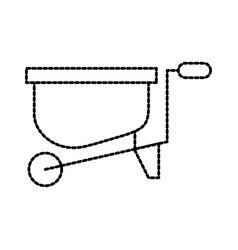gardening wheelbarrow equipment work hard vector image