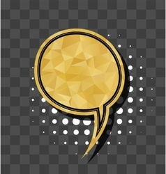 Gold sparkle comic text bubble vector