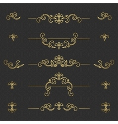 Golden floral borders vector