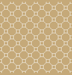 golden seamless abstract pattern in arabian style vector image