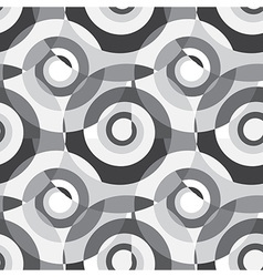 Grey abstract spiral background seamless pattern vector