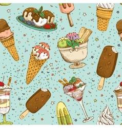 Icecream seamless background pattern vector