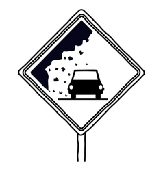 Isolated car road sign design vector