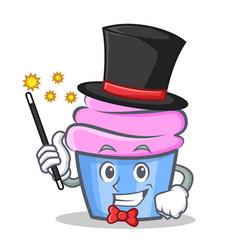 Magician cupcake character cartoon style vector