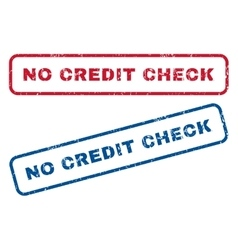No Credit Check Rubber Stamps vector image vector image