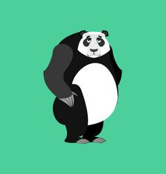 Panda sad emoji chinese bear sadness emotion vector