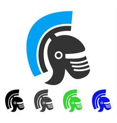 Rome helmet flat icon vector