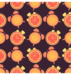 Seamless background with clock vector image